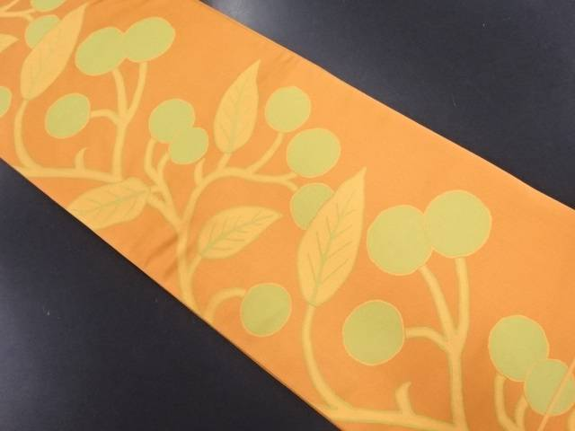 【IDN】 枝の実模様織り出し袋帯【リサイクル】【中古】【着】