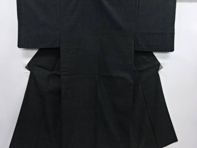 【IDN】 本場結城紬男物着物・長襦袢セット(結)【リサイクル】【中古】【着】