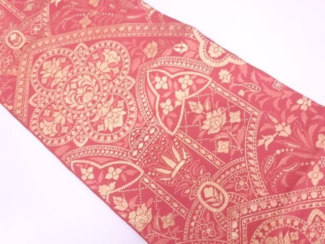 【IDN】 川島織物製 草花模様織出し袋帯【リサイクル】【中古】【着】
