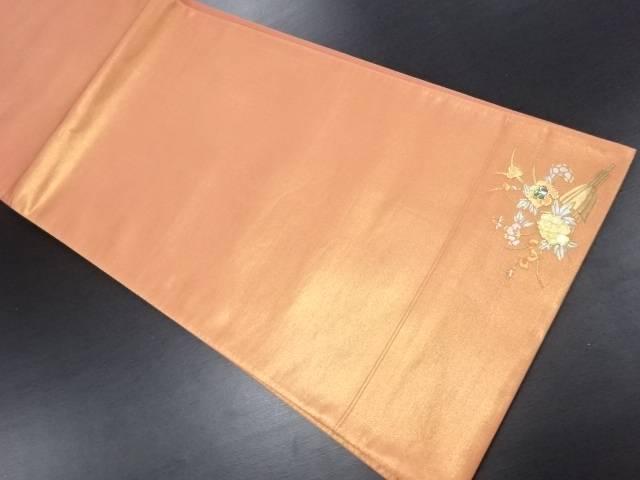 【IDN】 田中義織物製 金彩螺鈿花束模様袋帯【リサイクル】【中古】【着】