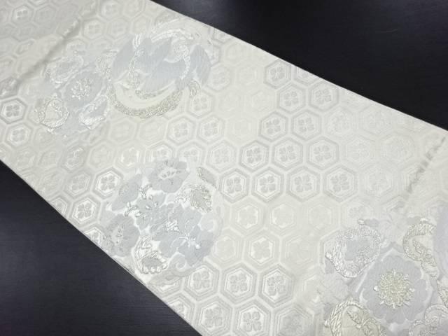 【IDN】 華紋・向かい鳥模様織り出し袋帯【リサイクル】【中古】【着】
