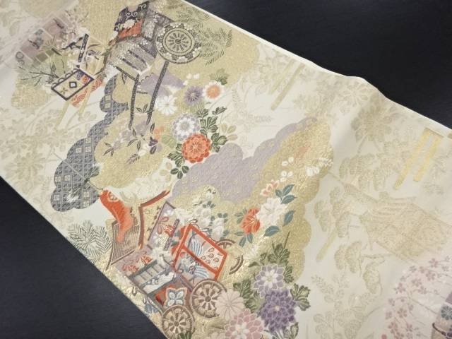 【IDN】 未使用品 本金平安祭礼献上紋織り出し袋帯【リサイクル】【着】