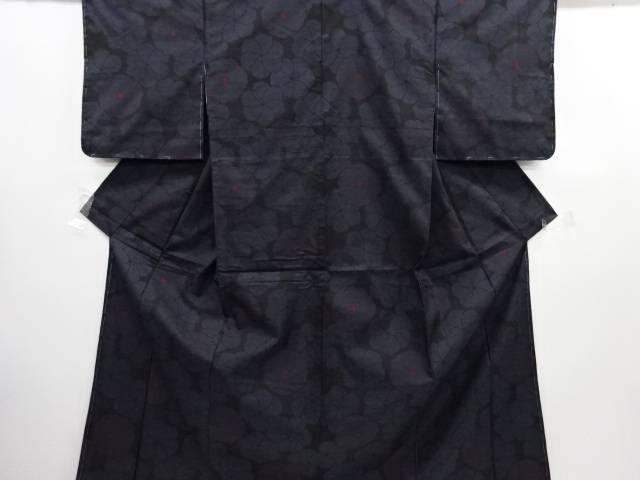【IDN】 未使用品 ねじり花模様織り出し本場泥大島紬着物(5マルキ)【リサイクル】【着】
