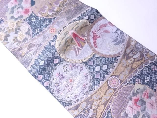 【IDN】 フォーマル用袋帯 金糸 雪輪に花文様【リサイクル】【中古】【着】