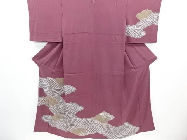 【30%OFF】【IDN】 絞り逆雲取りに菊模様刺繍一つ紋訪問着【リサイクル】【中古】【着】