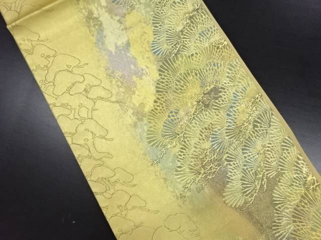 【IDN】 本金 松模様織り出し袋帯【リサイクル】【中古】【着】