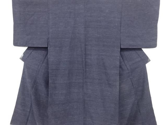 【IDN】 本場結城紬男物着物アンサンブル(ちぢみ)【リサイクル】【中古】【着】
