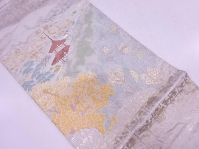 【IDN】 清水遠望模様織出し袋帯【リサイクル】【中古】【着】