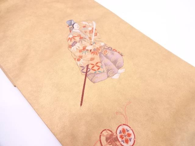【IDN】 能模様模様織出し袋帯【リサイクル】【中古】【着】