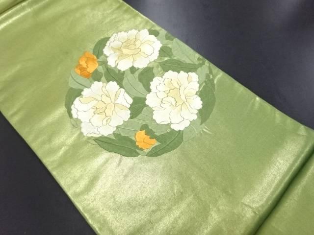 【IDN】 花模様刺繍袋帯【リサイクル】【中古】【着】