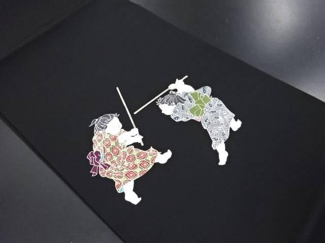 【IDN】 塩瀬童子模様名古屋帯【リサイクル】【中古】【着】