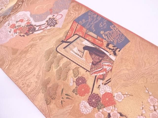 【IDN】 じゅらく製 源氏芳香文様織出し袋帯【リサイクル】【中古】【着】