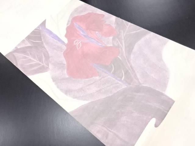 【IDN】 洋花模様袋帯【リサイクル】【中古】【着】
