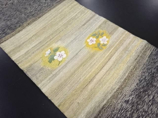 【IDN】 綴れ金通し花模様織り出し袋帯【リサイクル】【中古】【着】