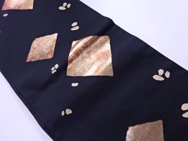 【IDN】 本袋帯 川島織物 金箔 幾何学文様【リサイクル】【中古】【着】
