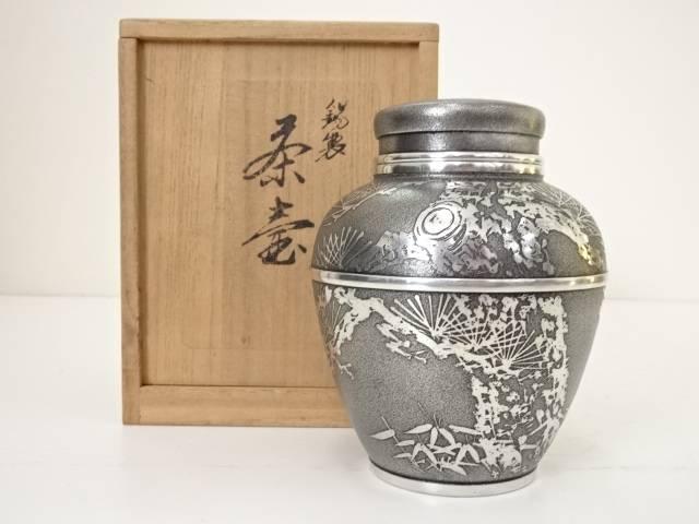 【IDN】 錫半造 錫製茶心壷(443g)【中古】【道】