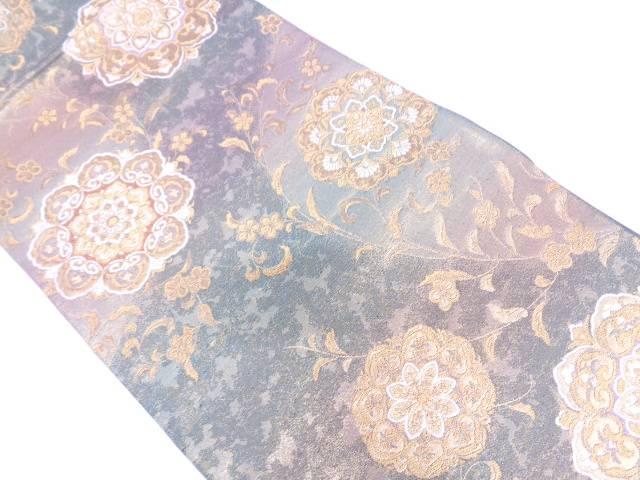 【IDN】 未使用品 華紋模様織出し袋帯【リサイクル】【着】