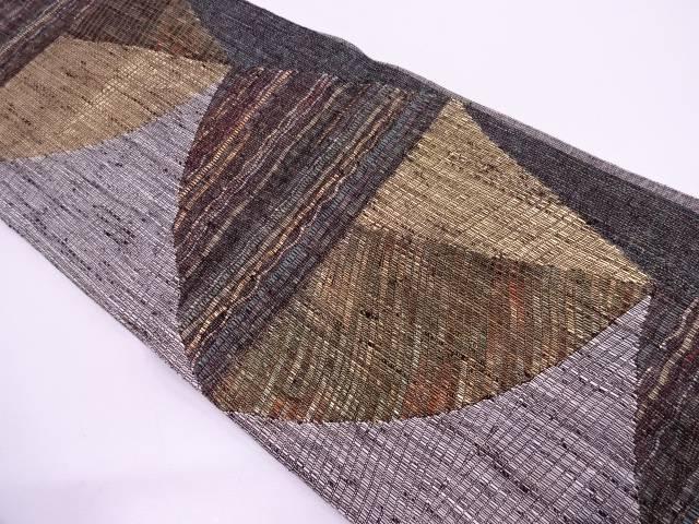 【IDN】 変わり織抽象模様織出し袋帯【リサイクル】【中古】【着】
