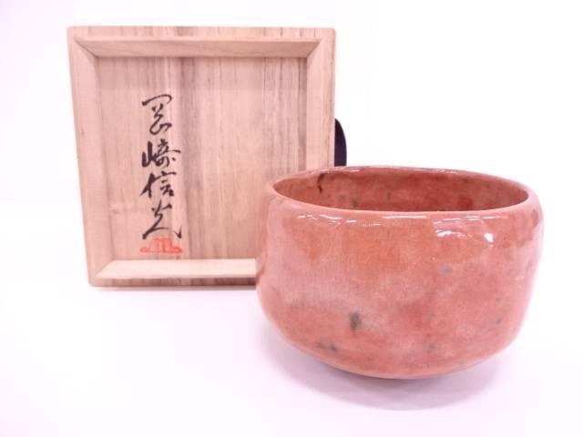 【IDN】 古門堂焼 岡崎信光造 赤茶碗 【中古】【道】