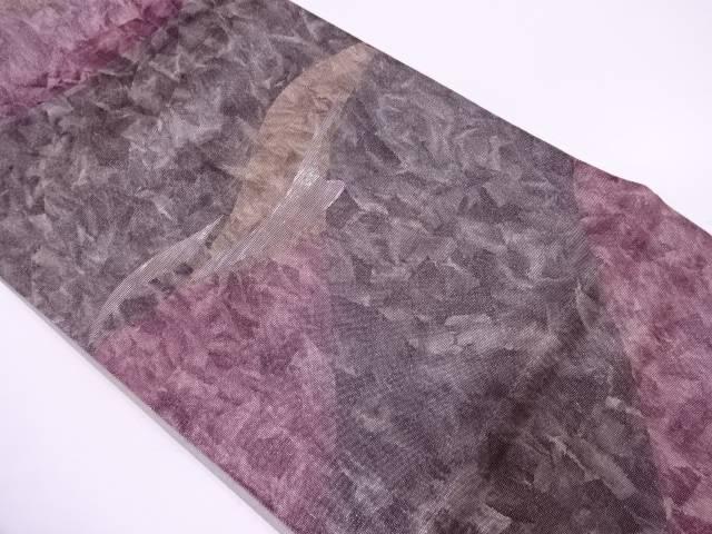 【IDN】 未使用品 井上定機業製 螺鈿抽象模様織出し袋帯【リサイクル】【着】
