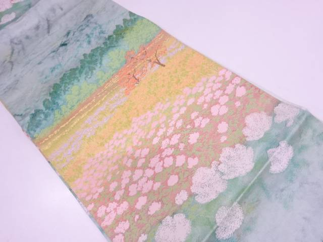 【IDN】 花畑模様織出し袋帯【リサイクル】【中古】【着】