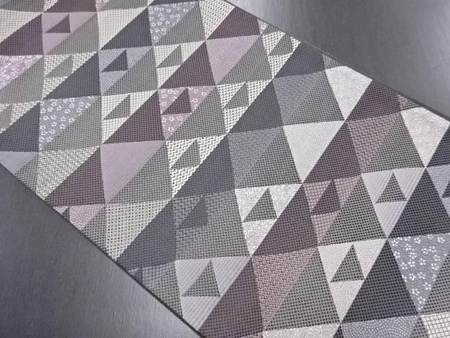 【IDN】 未使用品 鱗に寿模様織り出し全通袋帯(未仕立て)【リサイクル】【着】