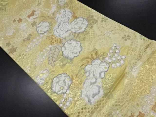 【IDN】 未使用品 本金箔地紙に辻ヶ花模様織り出し袋帯【リサイクル】【着】