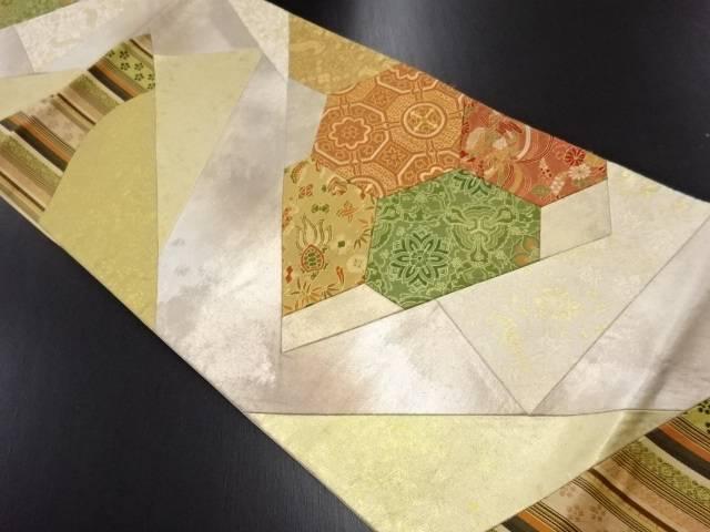 【IDN】 切りばめ名物裂模様織り出し袋帯【リサイクル】【中古】【着】