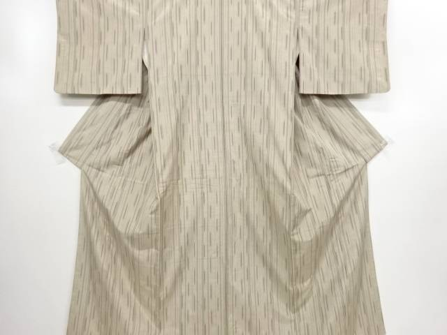 【エントリーで全品ポイント10倍!】【IDN】 絣縞模様織り出し手織り節紬着物【リサイクル】【中古】【着】