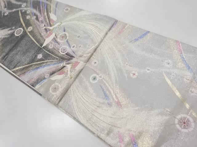 【IDN】 金銀糸鳳凰模様織り出し袋帯【リサイクル】【中古】【着】