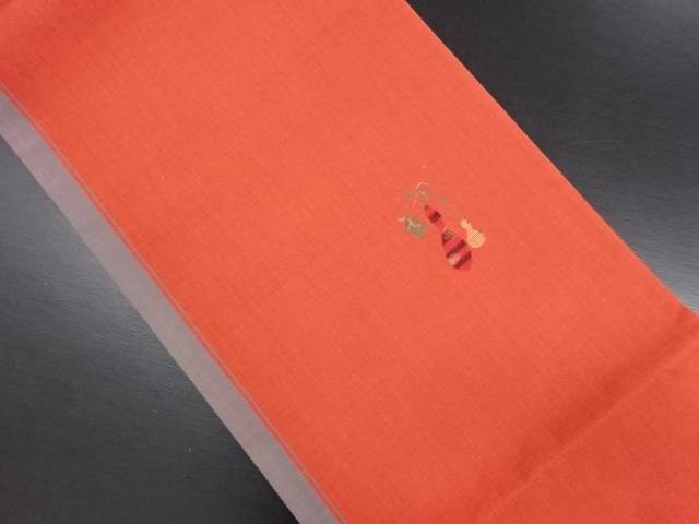 【IDN】 瓢箪模様織り出し洒落袋帯【リサイクル】【中古】【着】