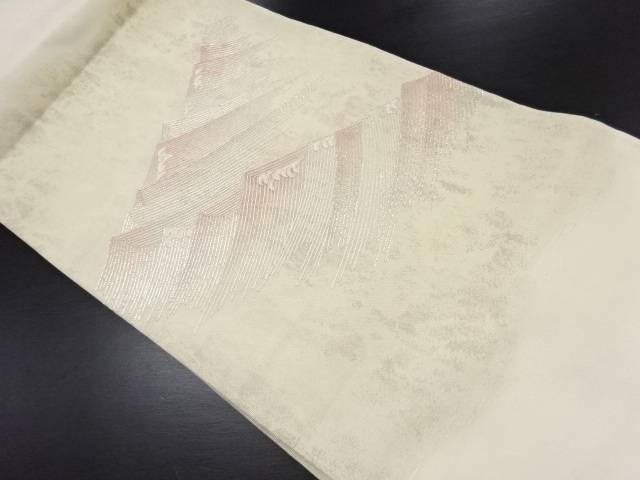 【IDN】 紗荒波模様刺繍名古屋帯【リサイクル】【中古】【着】