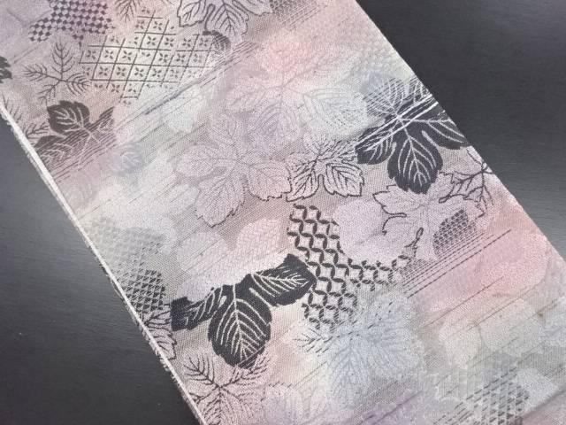 【IDN】 金通し 古典柄に葉尽くし模様全通袋帯【リサイクル】【中古】【着】