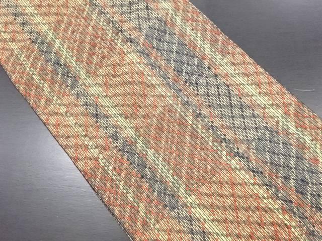 【IDN】 幾何学模様織り出し名古屋帯【リサイクル】【中古】【着】