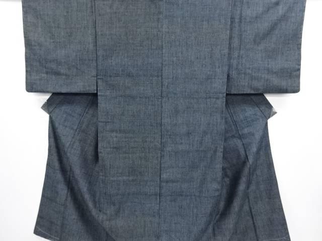 【IDN】 未使用品 草木染 手織り真綿紬男物着物アンサンブル【リサイクル】【着】