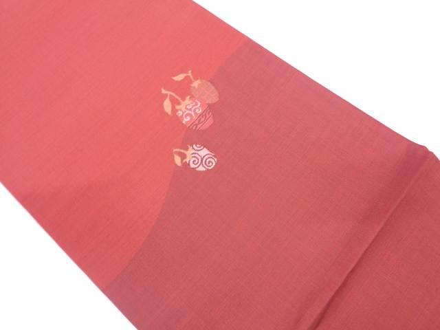 【IDN】 木の実模様織出し袋帯【リサイクル】【中古】【着】