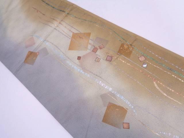 【IDN】 未使用品 金彩螺鈿色紙散らし模様袋帯【リサイクル】【着】