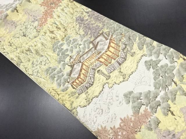 【IDN】 楼閣模様織り出し袋帯【リサイクル】【中古】【着】