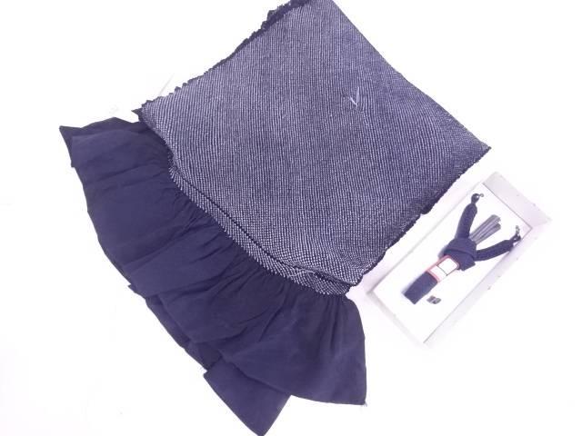 【IDN】 未使用品 正絹 男物兵児帯・羽織紐セット【リサイクル】【着】