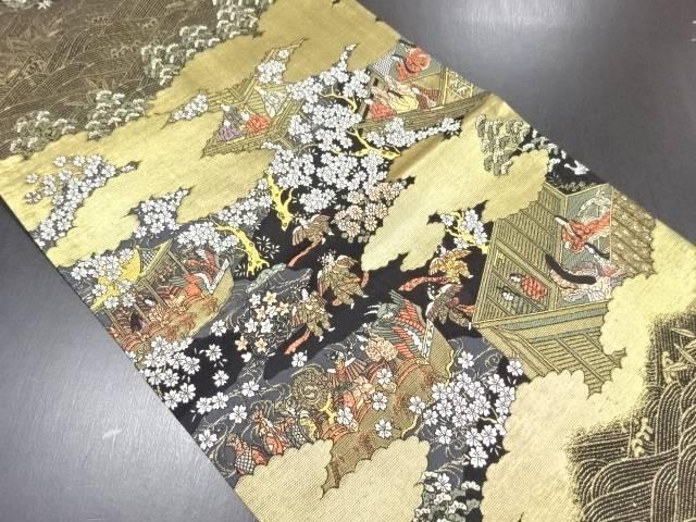 【IDN】 本金時代人物模様織り出し袋帯【リサイクル】【中古】【着】