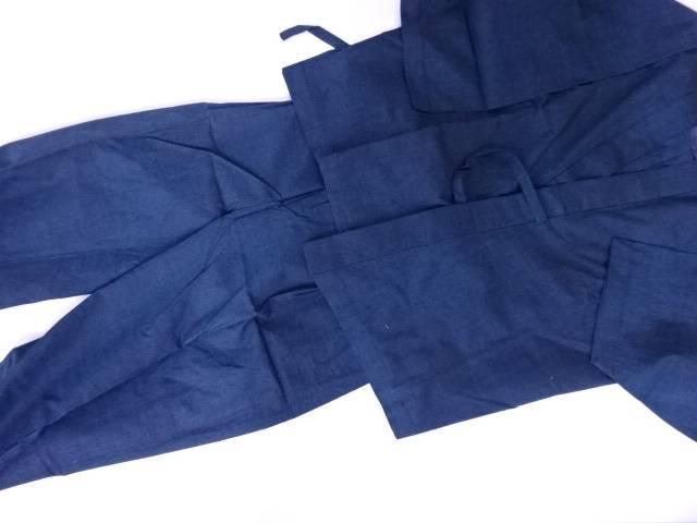 【IDN】 男物作務衣 紬織 無地 LLサイズ【新品】【着】