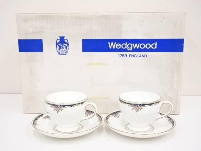【IDN】 WEDGWOOD ウェッジウッド オズボーン カップ&ソーサーペア【中古】【道】