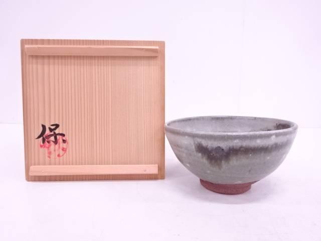 【IDN】 清水保孝造 灰釉茶碗【中古】【道】