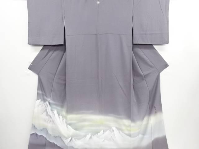 【IDN】 峰山和生作 山岳模様一つ紋色留袖【リサイクル】【中古】【着】