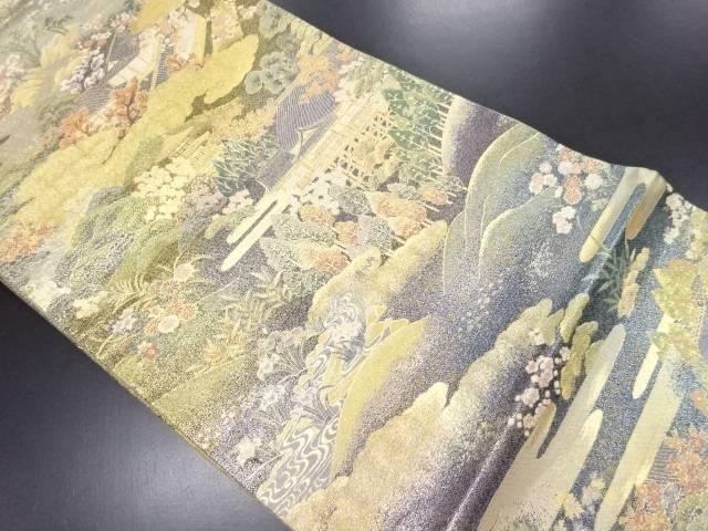 【IDN】 本金箔吟遊匠景織り出し袋帯【リサイクル】【中古】【着】