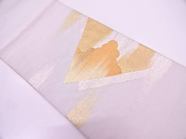 【IDN】 綴れ重ね色紙に雲模様織出し袋帯【リサイクル】【中古】【着】