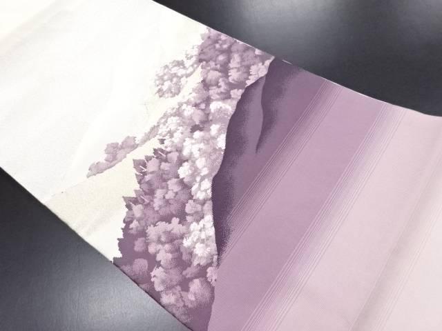 【IDN】 遠山に寺院模様織り出し名古屋帯【リサイクル】【中古】【着】