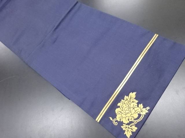 【IDN】 川島織物製 本金牡丹唐草模様織り出し名古屋帯【リサイクル】【中古】【着】