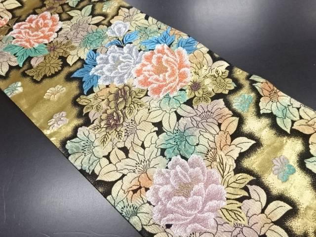 【IDN】 本金牡丹模様織り出し袋帯【リサイクル】【中古】【着】