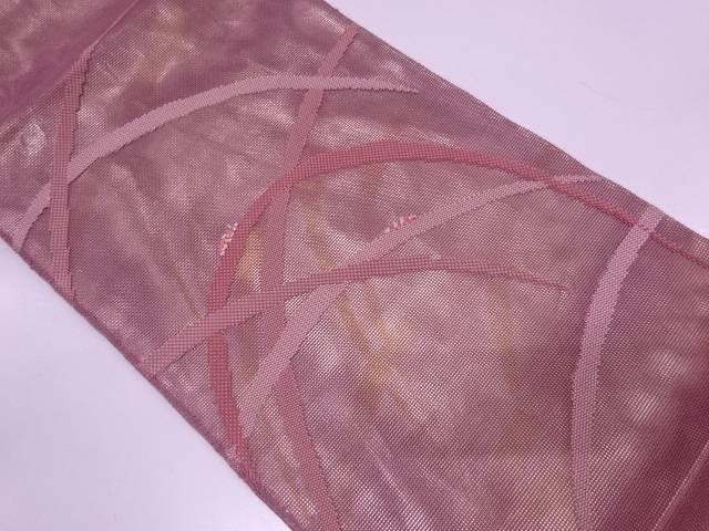 【IDN】 紗 芝草に昆虫模様織出し袋帯【リサイクル】【中古】【着】